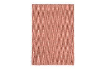 Natura Wool Orange Red Chevron Rug - 160x230 cm