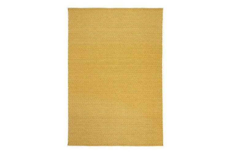 Natura Wool Yellow Diamond Rug - 200x290 cm