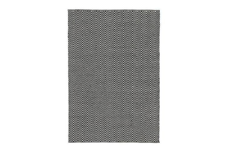Natura Wool Black White Chevron Rug - 200x290 cm