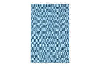 Natura Wool Turquoise Blue Chevron Rug - 200x290 cm