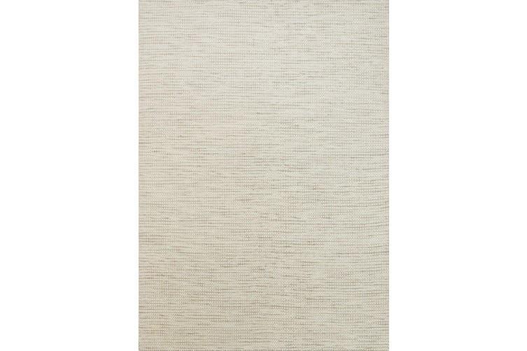 Scandi Beige Reversible Wool Rug - 160x230 cm