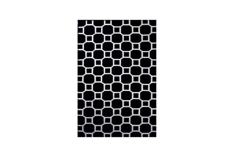 Noosa Black Link Rug - 160 x 230 cm