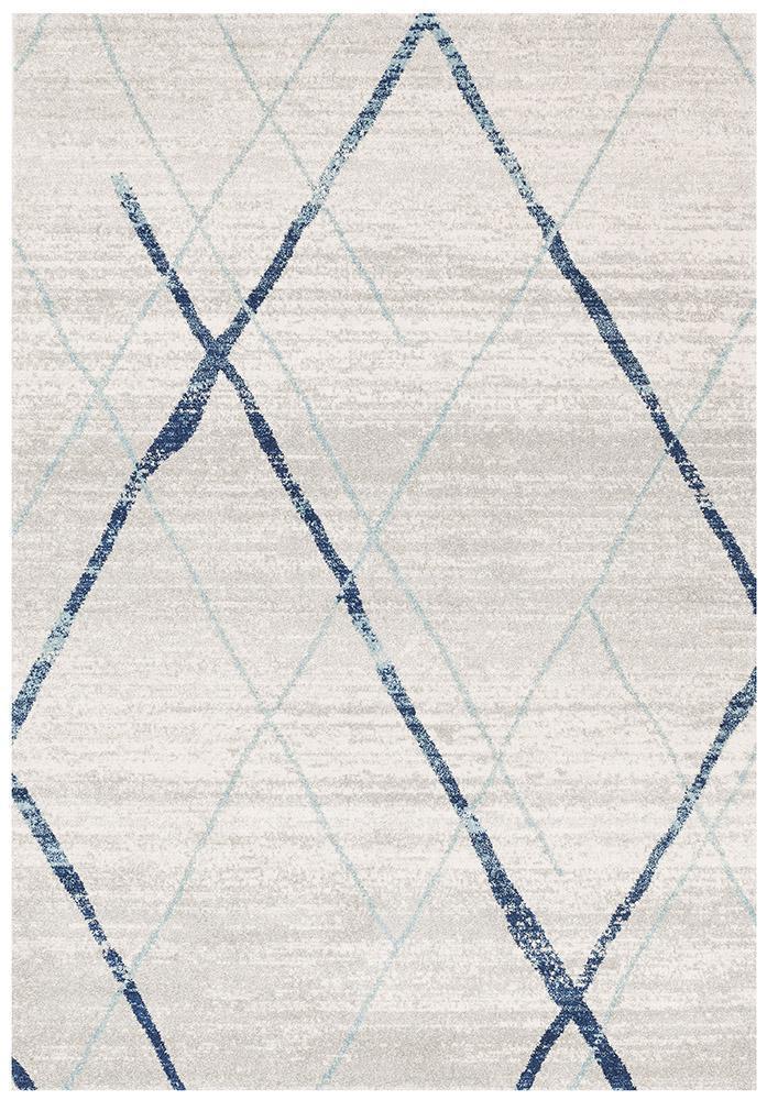Picture of: Oasis Noah White Blue Contemporary Rug Matt Blatt