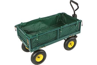 4-Wheel Garden Mesh Side Cart Wagon