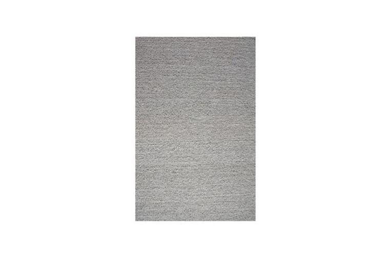 Pebble Silver Wool Rug - 70 x 120 cm
