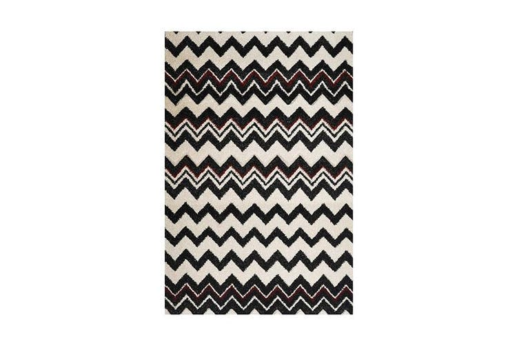 Picasso Zig Zag B And W Red Rug - 60 x 100 cm