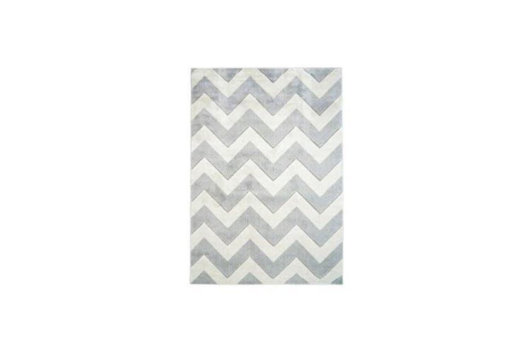 Picasso Chevron Light Grey Home Rug - 80 x 300 cm