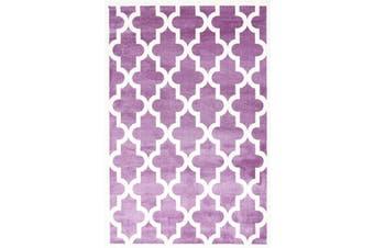 Lattice Pattern Pink White Rug - 120x170