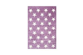 Stars Pink White Rug - 160x230