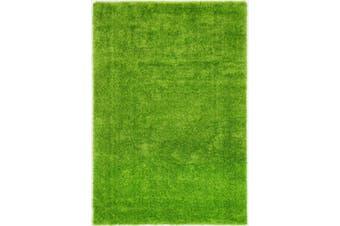 Puffy Soft Shag Green Rug - 200x290cm