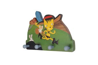 Wooden Wall Hooks Clothes Hanger Cat Robinhood