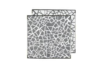 Jagga Charcoal Recycled Plastic Mat Charcoal And White