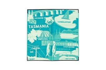I Love Tasmania Recycled Plastic Mat Light Green Dark Green And Yellow