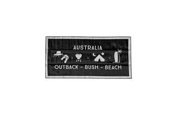 Kool Kampers Recycled Plastic Outdoor Mat Black And Grey