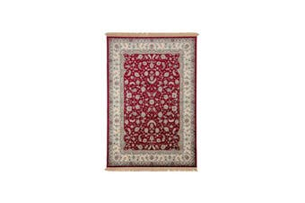 Royal Palace Red Silk Rug - 67 x 105 cm