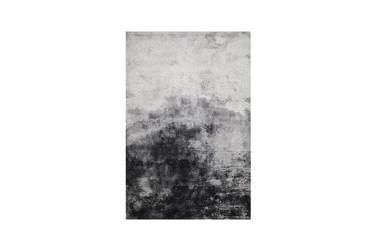 Art Polypropylene Grey Rug