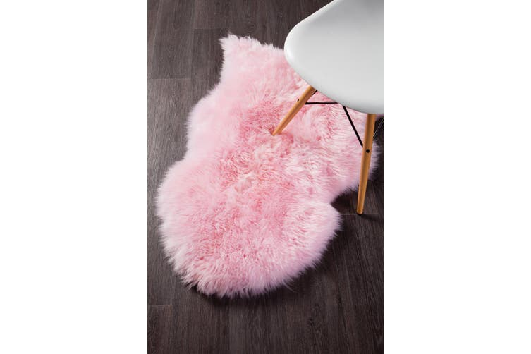 Natural New Zealand Blush Pink Sheep Skin Rug - 105X70CM
