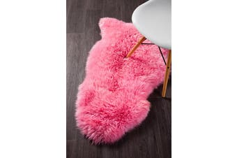 Natural New Zealand Pink Sheep Skin Rug - 105X70CM
