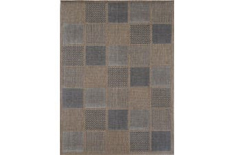 Sisalo Patchwork Brown Rug - 160x230
