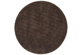 Soho Round Dark Brown Shag Rug - 60X60CM - PACK OF 3