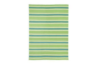 Bondi Striped Green Blue Rug - 160x230 cm