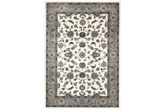 Sydney Collection Classic White with Beige Border Rug - 330X240CM