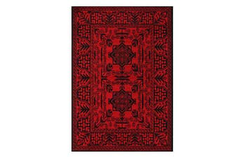 Tribute Red Traditional Afghan Rug - 80x300cm