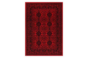 Tribute Traditional Khal Red Afghan Rug - 80x300cm