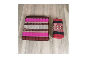 Meditation Cushion And Seating Block Set Pink And Red