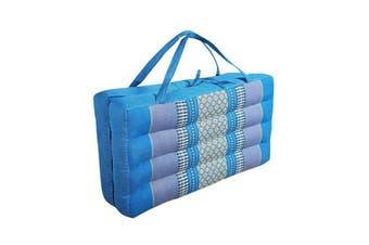 2 Fold Meditation Cushion Yoga Mat Blue