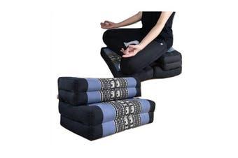 3 Fold Zafu Meditation Cushion Set Blueele