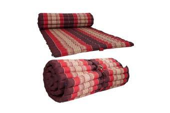 Roll Up Mattress Foldout Mat Red