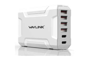 Wavlink USB3.0 with Dual Type-C 6-Port 60W Rugged Smart USB Charger
