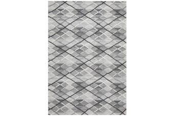 Visions Winter Grey Gravel Modern Rug