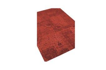 Vintage Pafica Brick Red Rug