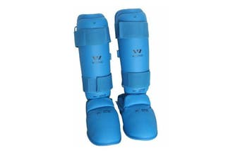 Wesing Wkf Approved Shin And Instep Blue