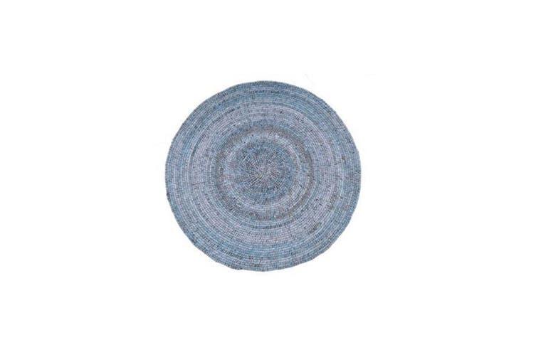 Wrap Denim Wool Rug - 100 RND