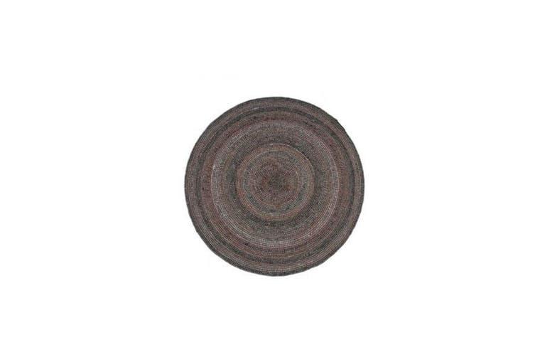 Wrap Gunmetal Wool Rug - 150 RND