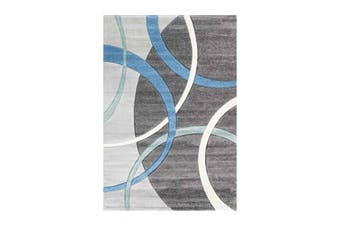 Focus Rings Blue and Grey Rug - 240x330