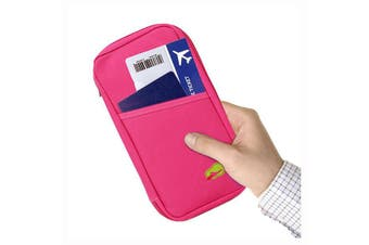 Passport and Travel Document Holder Pink