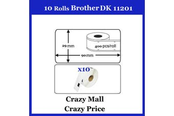 10x DK11201 DK 11201 Thermal Labels For Brother QL500 QL 560 570 580N 1060N ETC