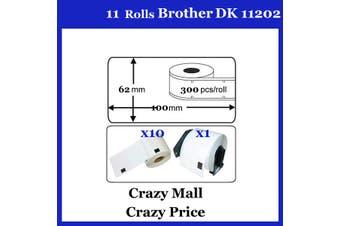 10+1 DK11202 DK 11202 Thermal Labels For Brother QL500 QL 560 570 580N 1060N ETC