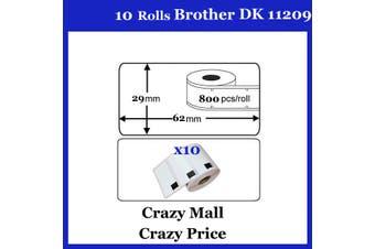 10x DK11209 DK 11209 Thermal Labels For Brother QL500 QL 560 570 580N 1060N ETC