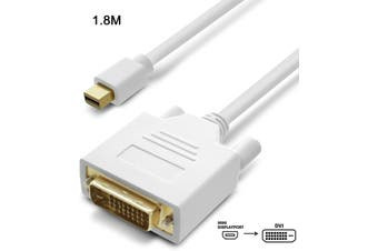 6FT 1.8M Mini Display Port Displayport To 24+1 DVI male Adapter Macbook Air Pro