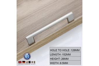 Brushed Nickel Kitchen Door Cabinet Drawer Handle Pulls 128MM
