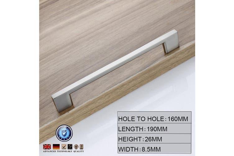 Brushed Nickel Kitchen Door Cabinet Drawer Handle Pulls 160MM