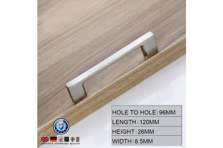 Brushed Nickel Kitchen Door Cabinet Drawer Handle Pulls 96MM