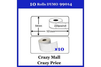 10x 99014 Label for DYMO Themal printer LabelWriter 54mm x 101mm 220 labels