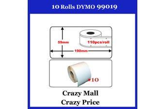 10x 99019 SD99019 Address Thermal Label 59x190mm For Dymo Seiko Writer Printer