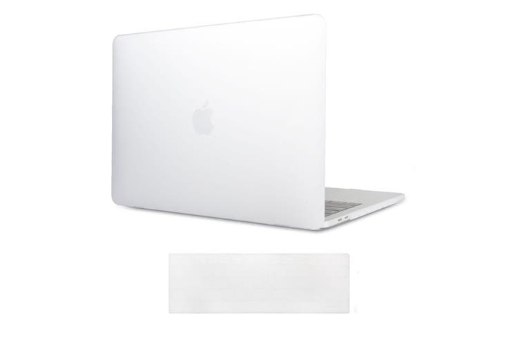 MacBook Pro 15 inch Case 2019 2018 2017 2016 Release A1990 A1707 Shell Cover case with Touch Bar - white